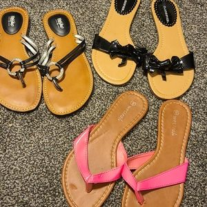 3 bundle sandals size 6.5